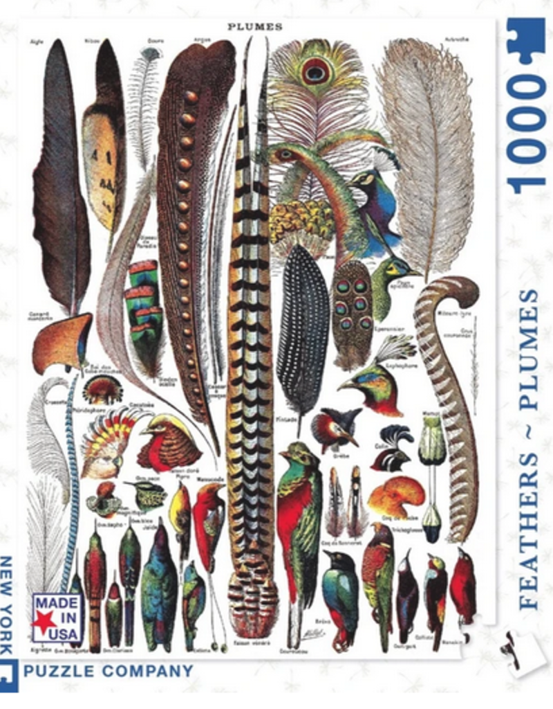 New York Puzzle Company Feathers 1000 piece puzzle