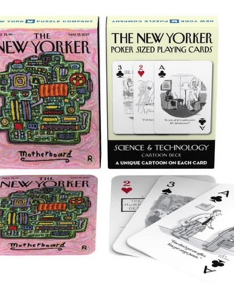 New York Puzzle Company Science Cartoons Playing Cards