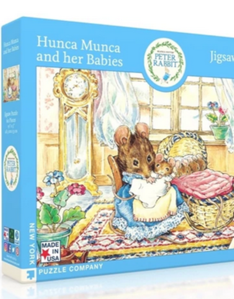 New York Puzzle Company Peter Rabbit Hunca Munca & Her Babies 60 piece puzzle