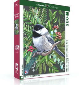 New York Puzzle Company Black Capped Chickadee 500 Piece Puzzle