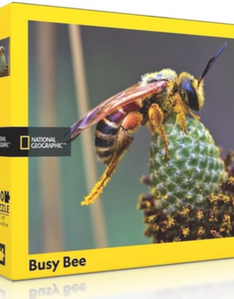 New York Puzzle Company Busy Bee 500 piece puzzle National Geographic