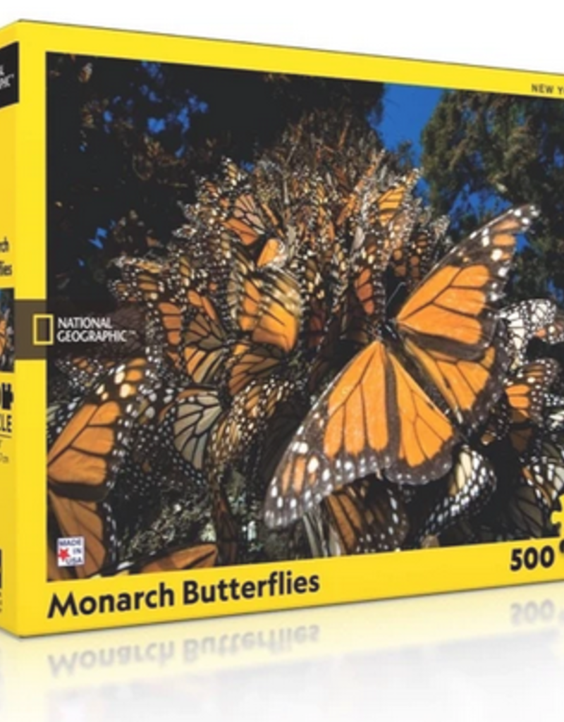 New York Puzzle Company Monarch Butterfiles 500 piece puzzle National Geographic