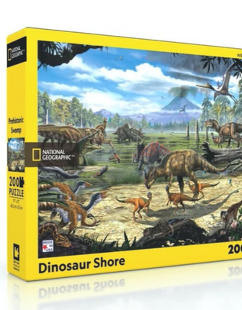 New York Puzzle Company Dinosaur Shore 200 piece puzzle