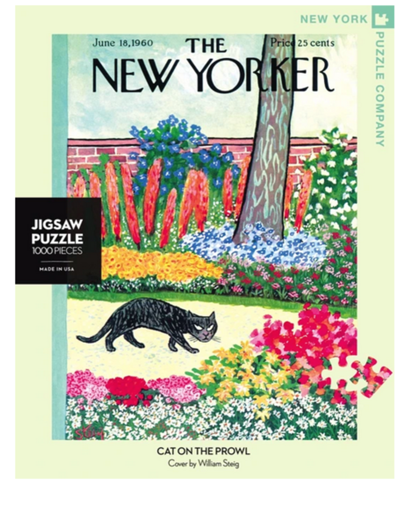 New York Puzzle Company Cat On The Prowl 1000 piece puzzle