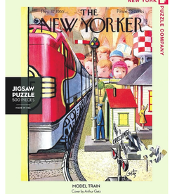 New York Puzzle Company Model Train 500  Piece Puzzle