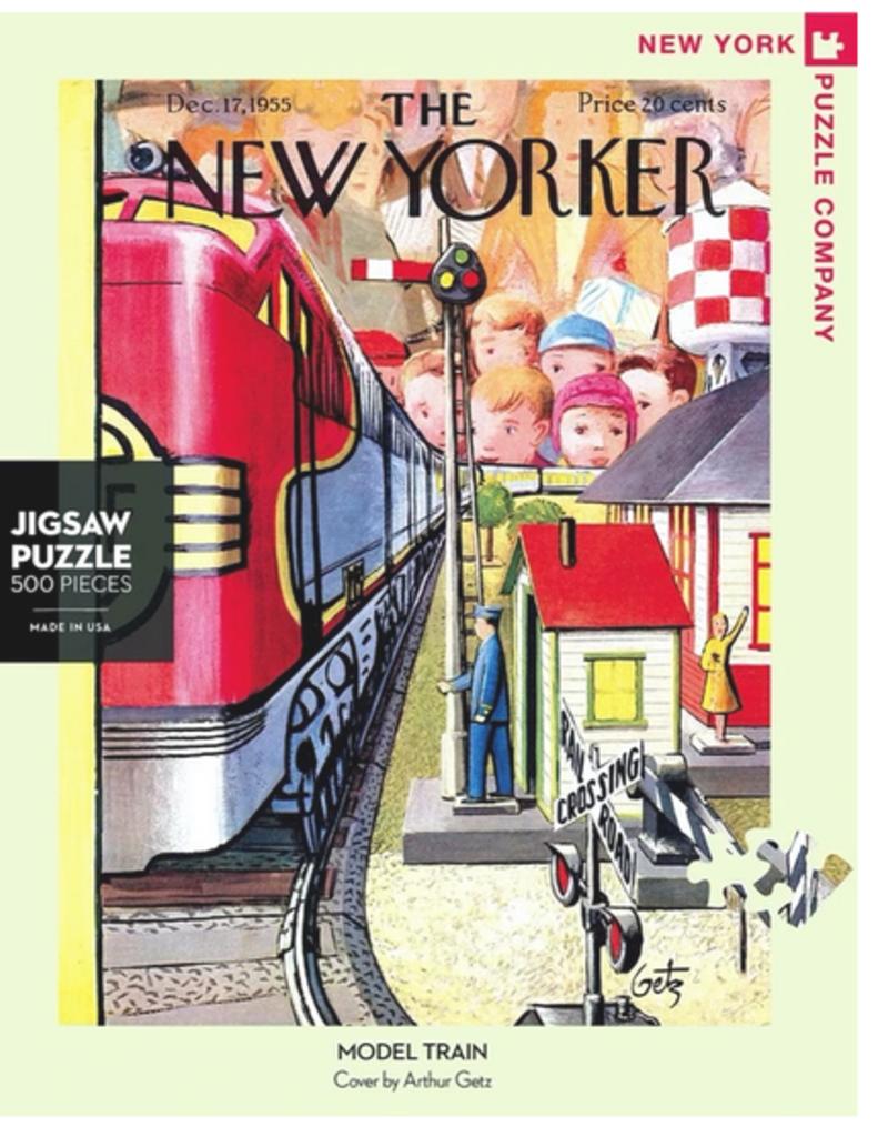 New York Puzzle Company Model Train 500  Piece Puzzle