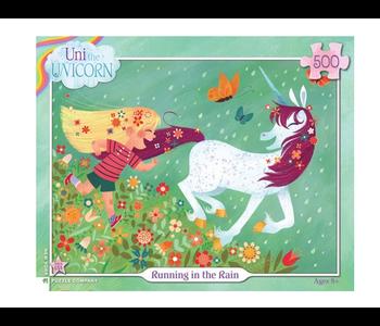 Uni the Unicorn Running In the Rain 500 piece puzzle