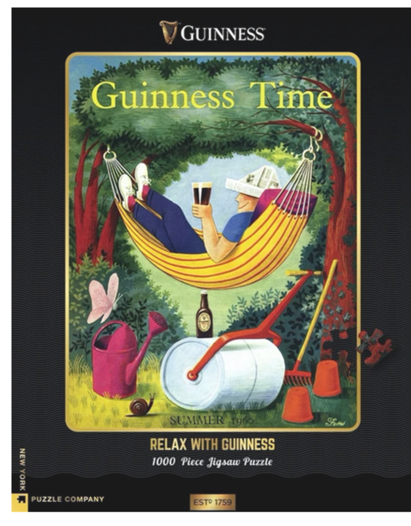 New York Puzzle Company Relax with Guiness 1000 piece puzzle