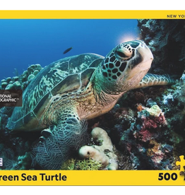 New York Puzzle Company Green Sea Turtle 500 piece puzzle