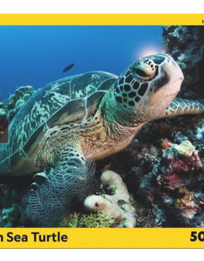 New York Puzzle Company Green Sea Turtle 500 piece puzzle