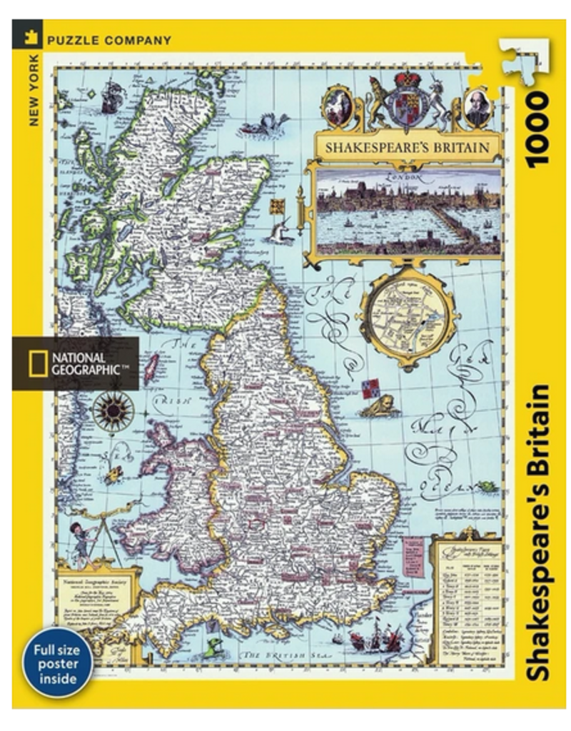 New York Puzzle Company Shakespeare's Britain 1000 piece puzzle