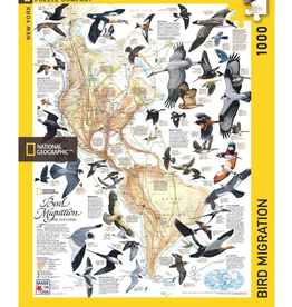 New York Puzzle Company Bird Migration 1000 piece puzzle