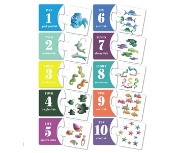 Pout Pout Two Piece Numbers, 2-Piece Number Puzzles (Set of 10)