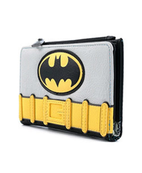 LOUNGEFLY DC BATMAN COSPLAY WALLET FAUX LEATHER