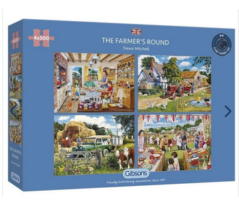 The Farmer's Round 4 x 500 piece puzzles