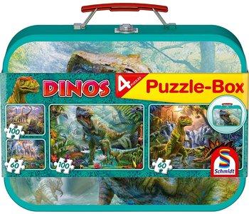 Dino 4 puzzle box 2x 60 piece 2 x 100 piece