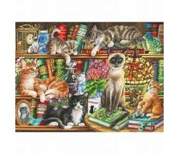 Puzzle: 1000 Puss in Books