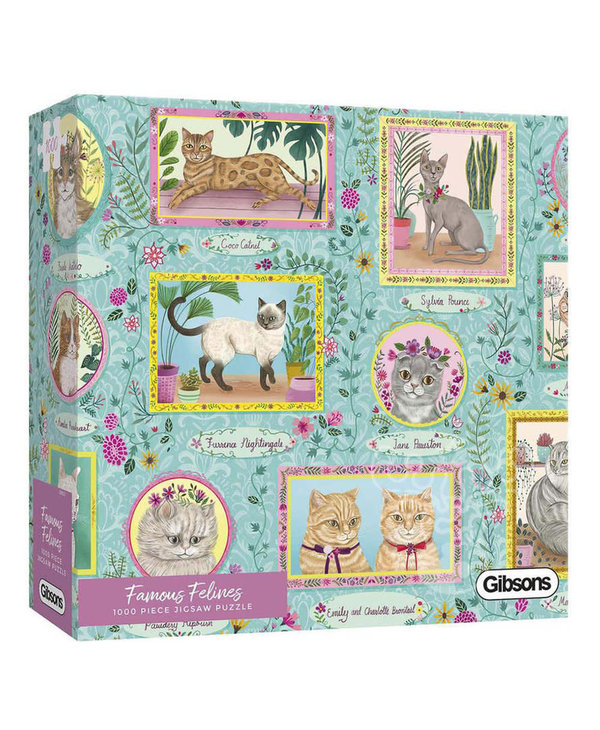 Puzzle: 1000 piece Famous Felines