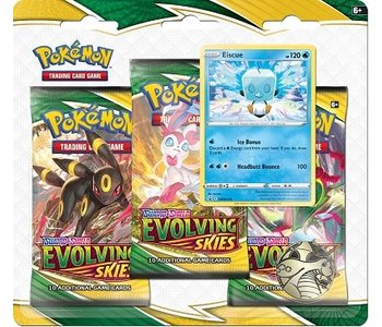 Pokemon Swsh7 Evolving Skies 3 Pack Blister