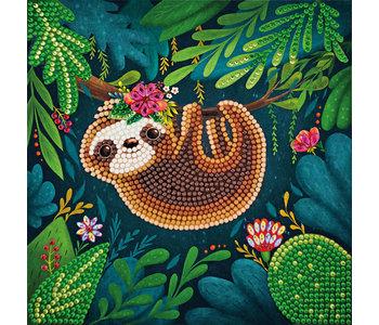Crystal Art Card Kit, Sloth