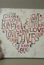 Dianne F Sign Making Love Heart Thurs Jan 30
