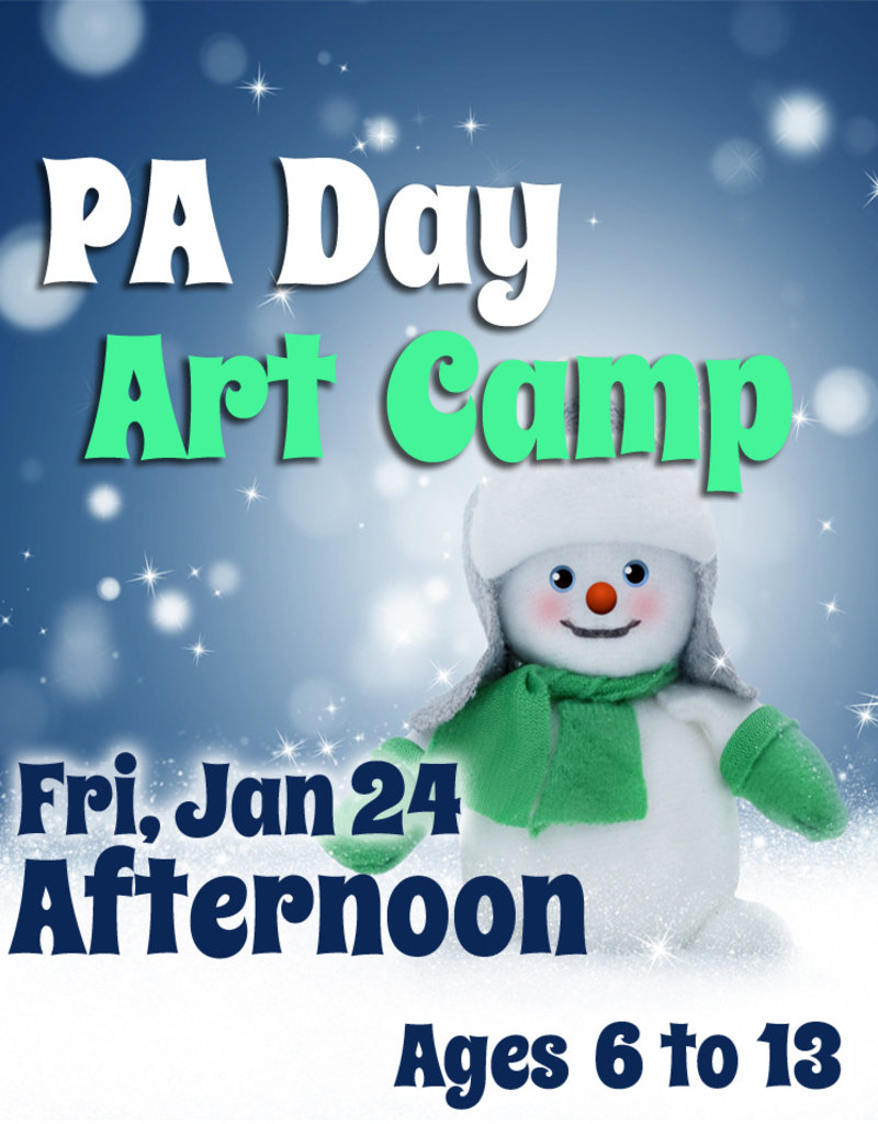 FTLA Jan 24 PA 1/2 Day Art Camps (Afternoon) 1-3:30 pm
