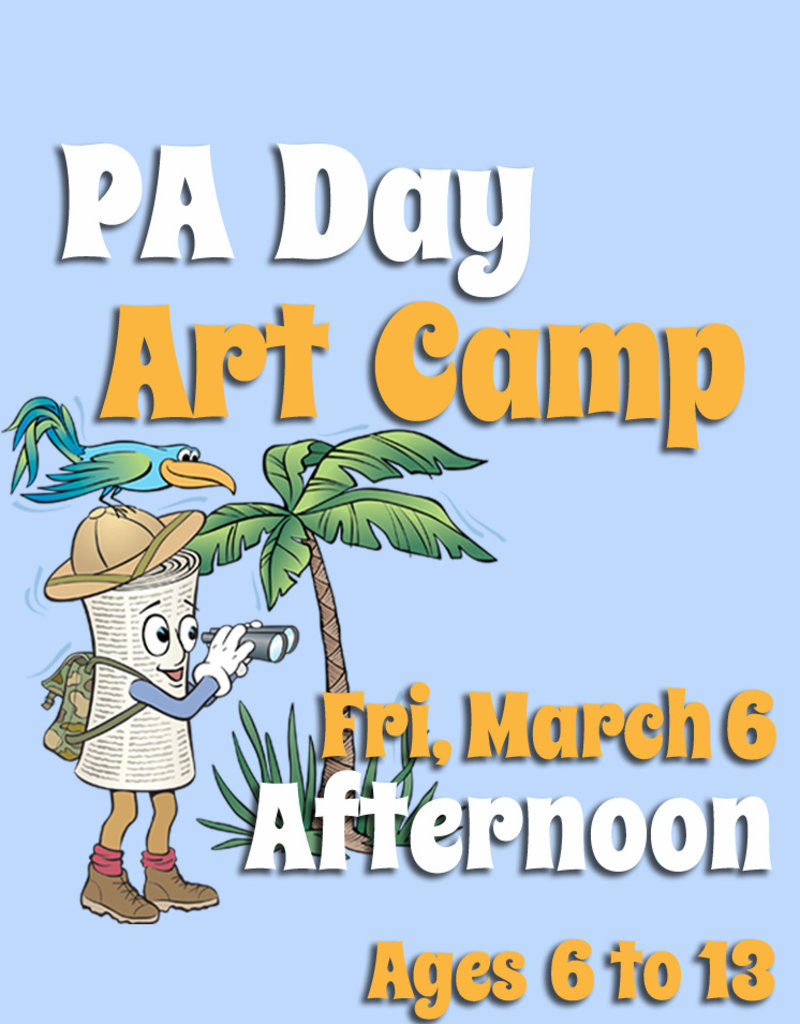 FTLA March 6 PA 1/2 Day Art Camp (Afternoon) 1-3:30 pm