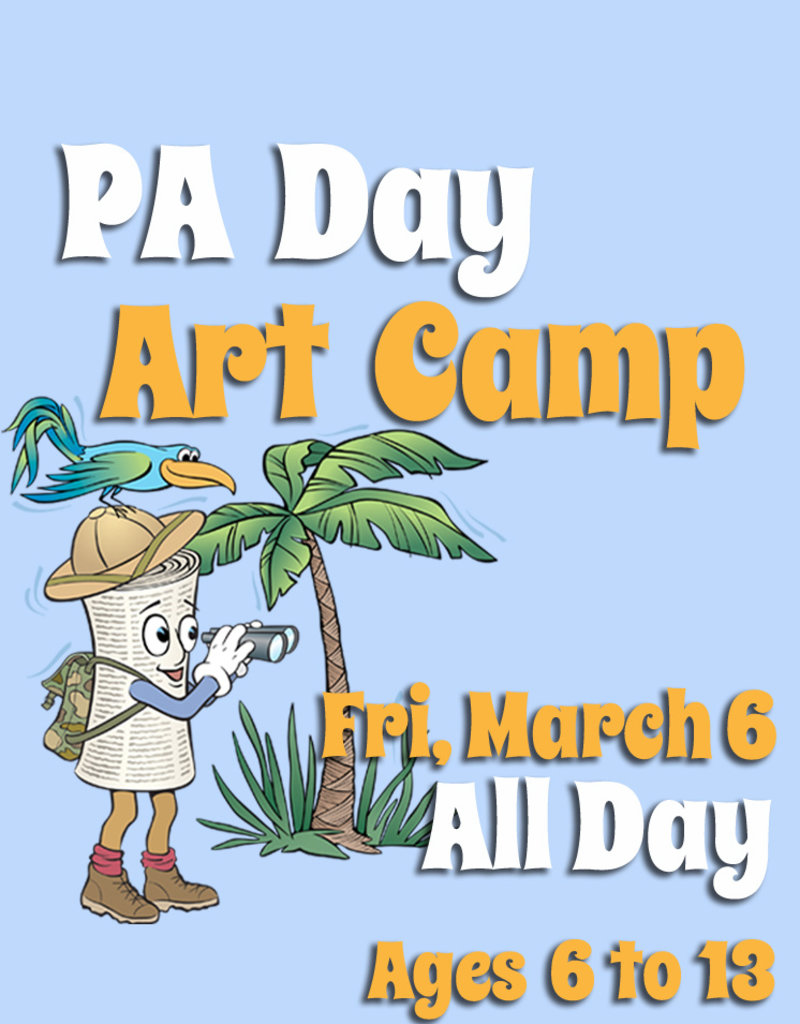FTLA March 6 PA Full Day Art Camp from 9am-3:30pm