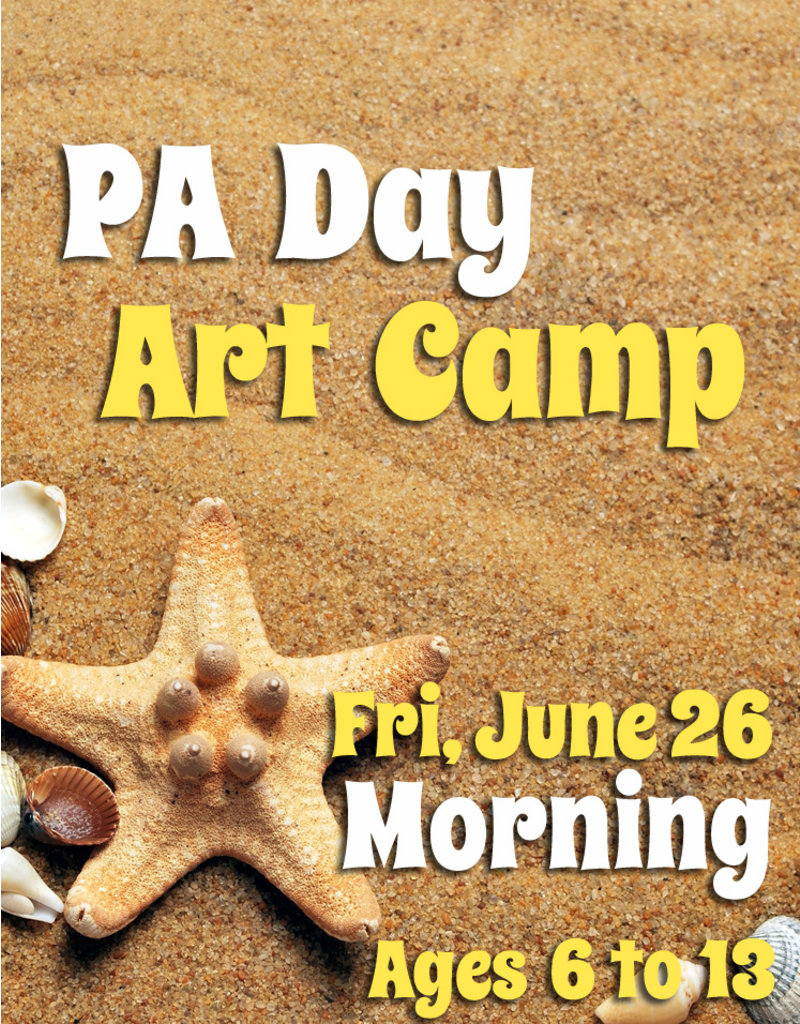FTLA June 26 PA 1/2 Day Art Camp (Morning) 9-12noon
