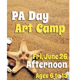 FTLA June 26 PA 1/2 Day Art Camp (Afternoon)  1-3:30 pm