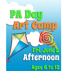 FTLA June 5 PA 1/2 Day Art Camps (Afternoon) 1-3:30 pm 1-3:30pm