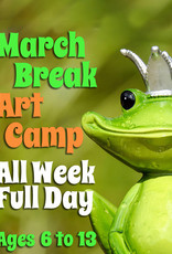 FTLA All Day March Break Art Camp (Full Week) 9:00-3:30pm each day - Includes Lunch