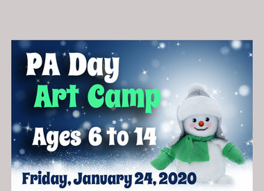 PA Day - Jan 24 Art Camp