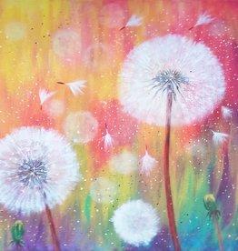 Tamara S Acrylic Fluffy Dandelion Flowers Tues Feb 18