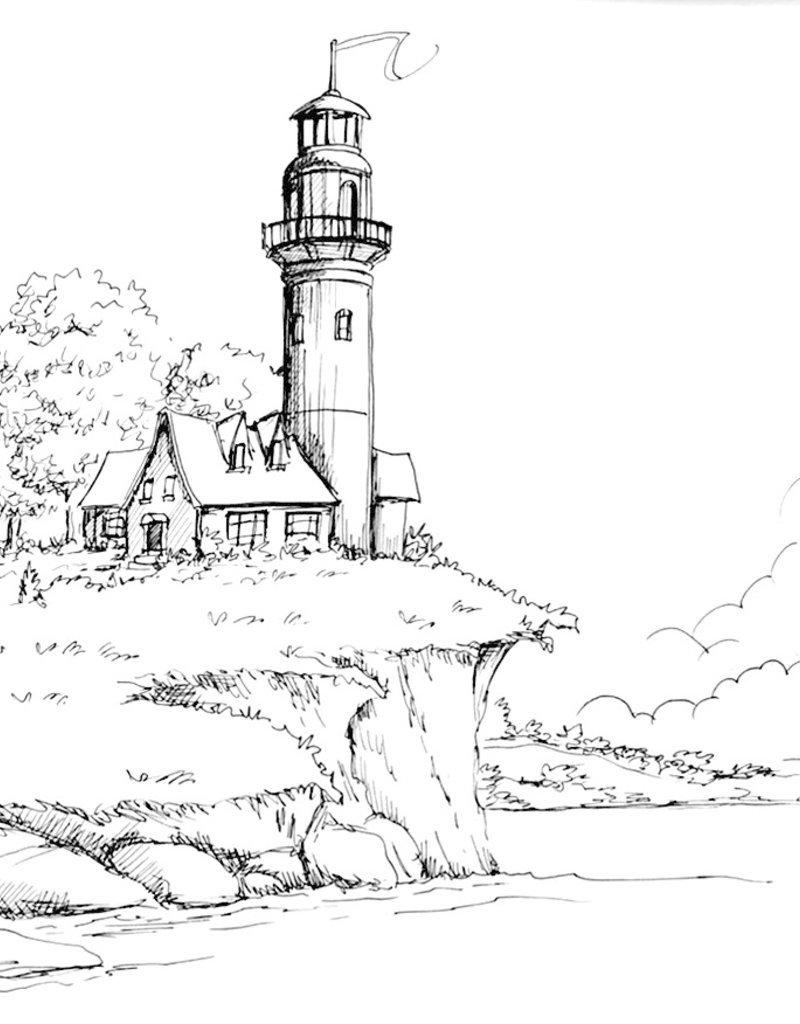 Nick W Art class: Lighthouse Drawing Sat Feb 29 - 1-3pm