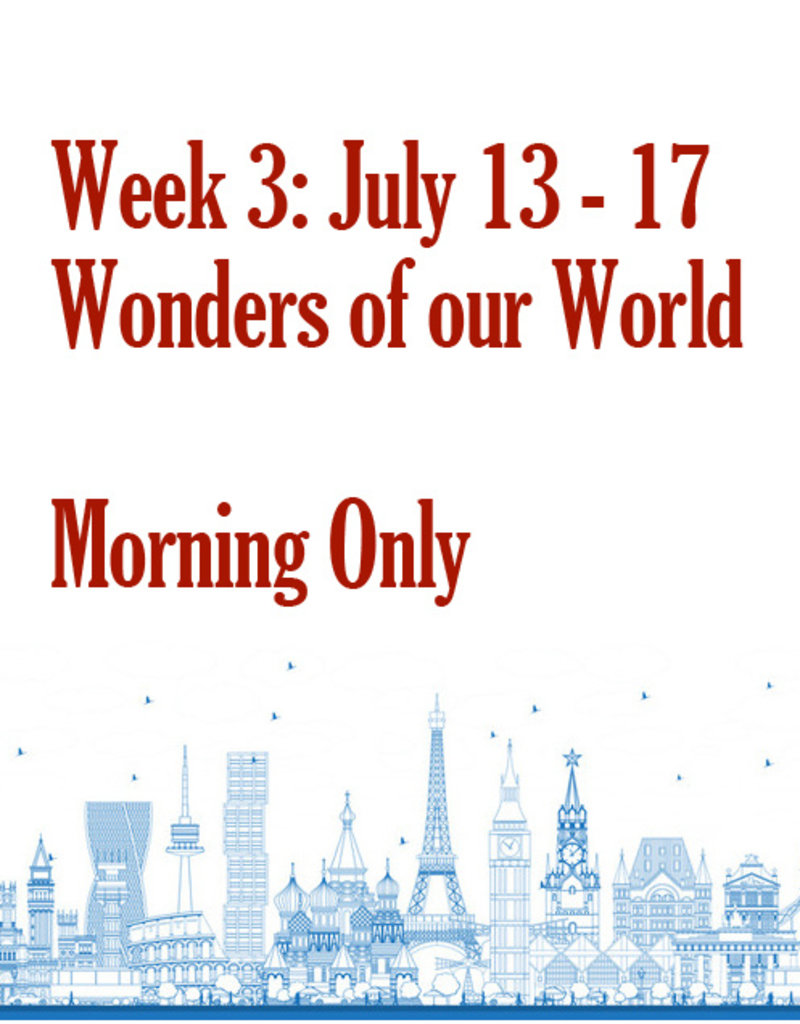 Art Camp Art Camp: Week Three July 13 - July 17 Morning