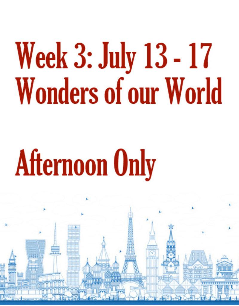 Art Camp Art Camp: Week Three July 13 - July 17 Afternoon