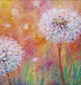 Tamara S Acrylic Fluffy Dandelion Flowers Tues March 17