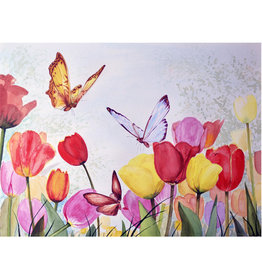 Tamara S Acrylic Tulips and Butterflies Thurs Apr 16