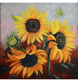 Tamara S Acrylic Sunflowers Thur Apr 23