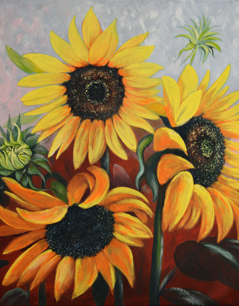 Tamara S Art Class:  Acrylic Sunflowers Thur Apr 23 1:00 - 3:00 pm