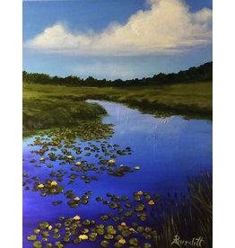 Aura B The Lily Pond - 16x20 Acrylic