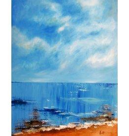 Aura B Port Credit Beach - 30x40  Acrylic