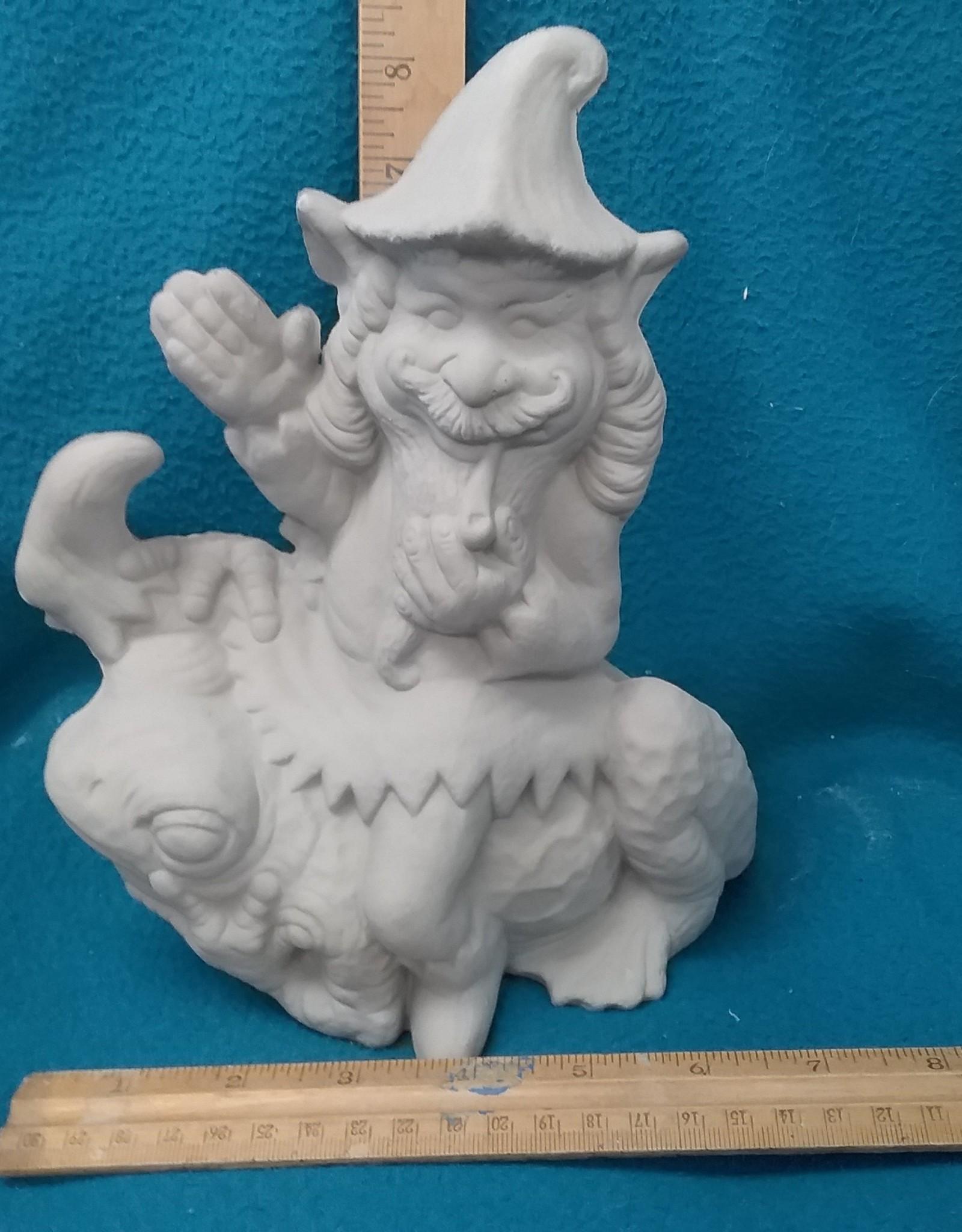 ART KIT Art Kit: Ceramic Gnome frog riding#2