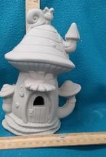ART KIT Ceramic Fairy House large snail #3 Art Kit