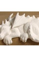 ART KIT Large Ceramic Dragon shelf sitter Art Kit