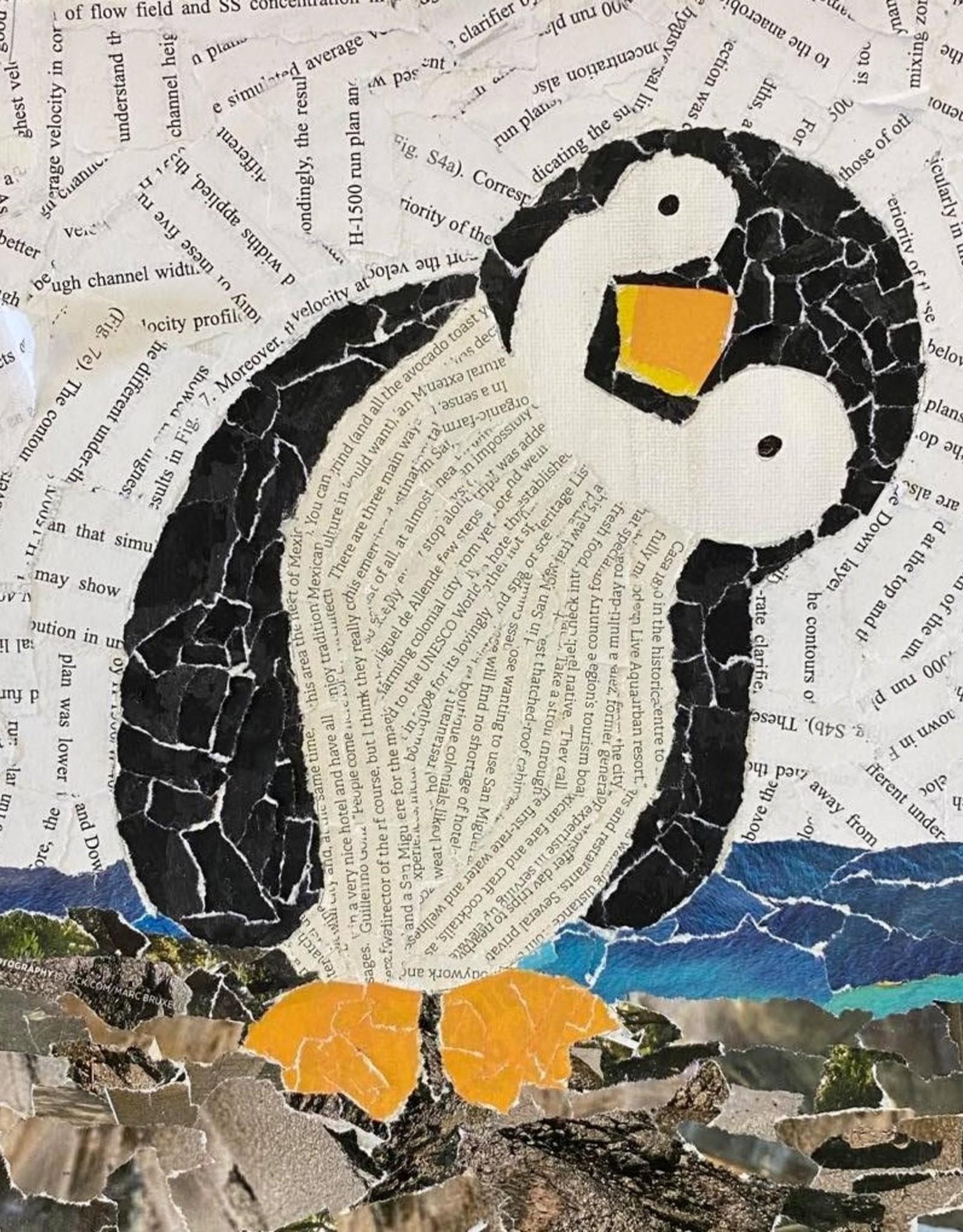 ART KIT Paper Collage Penguin Art Kit