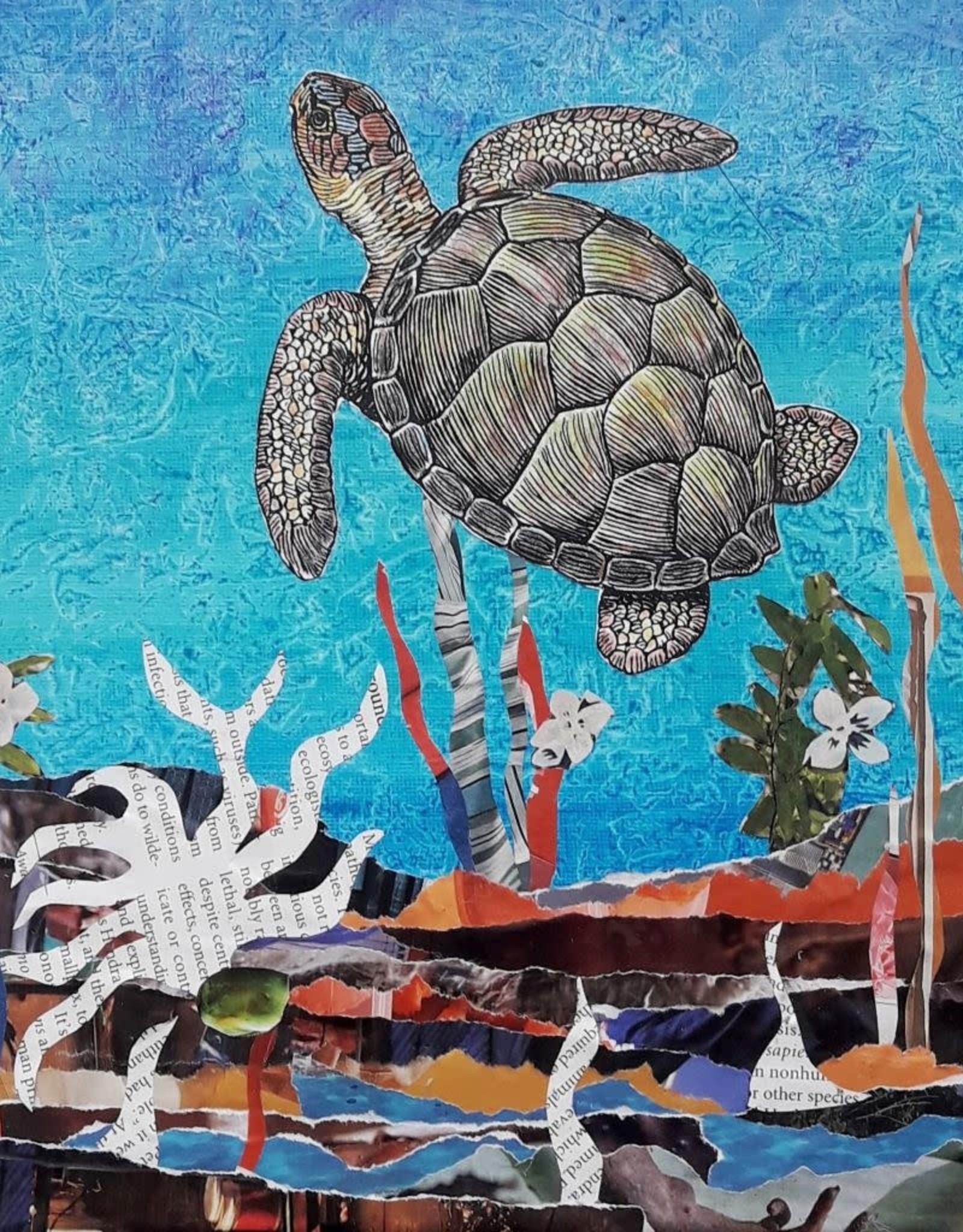 ART KIT Paper Collage Sea Turtle Art Kit