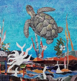 ART KIT Paper Collage Sea Turtle Art Kit