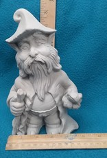 ART KIT Ceramic Gnome w walking stick #6 Art Kit